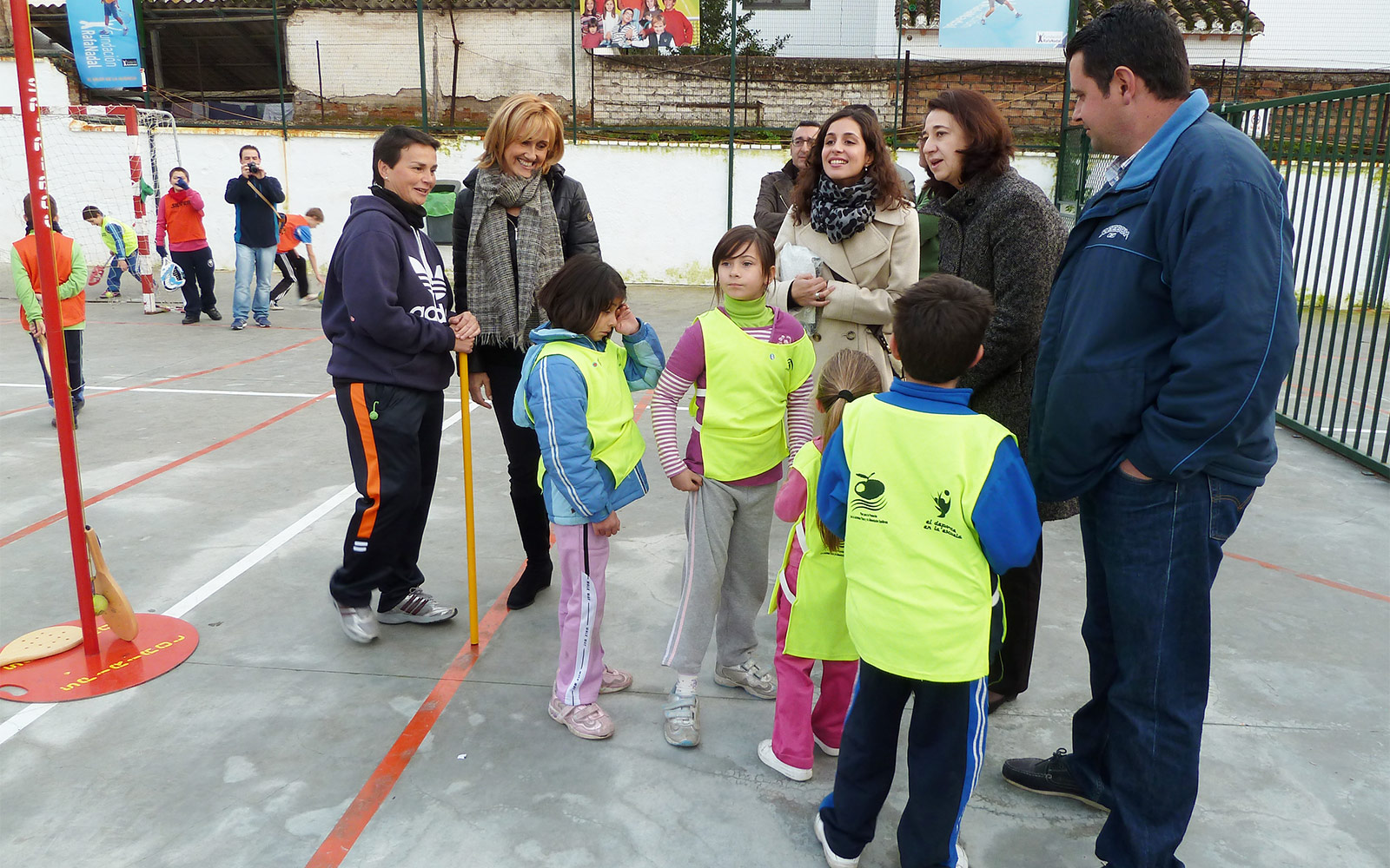 Ana M.P. with the children from Integration and Sport in Granada