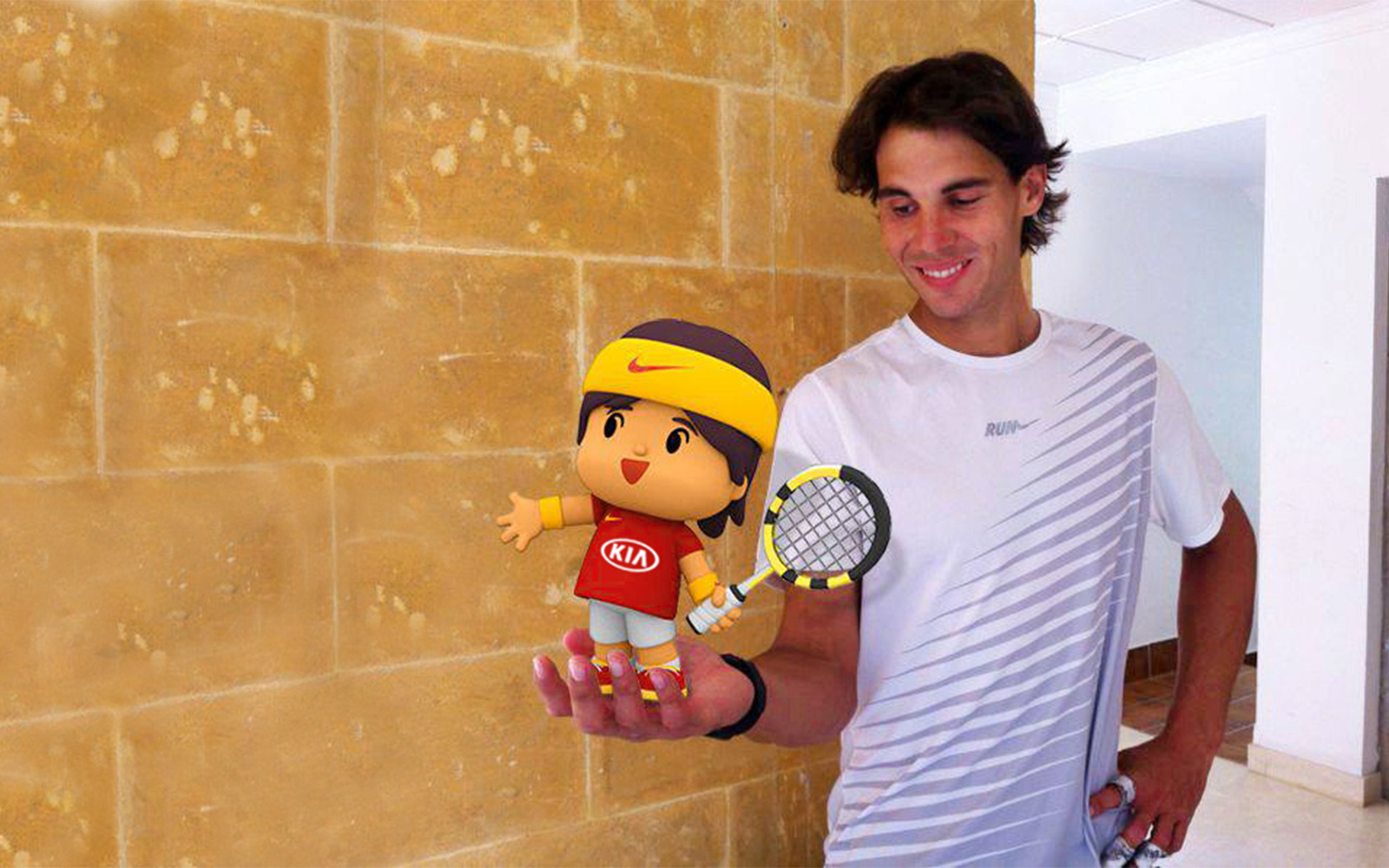 Kia joins Pocoyó and Rafael Nadal in his most supportive version