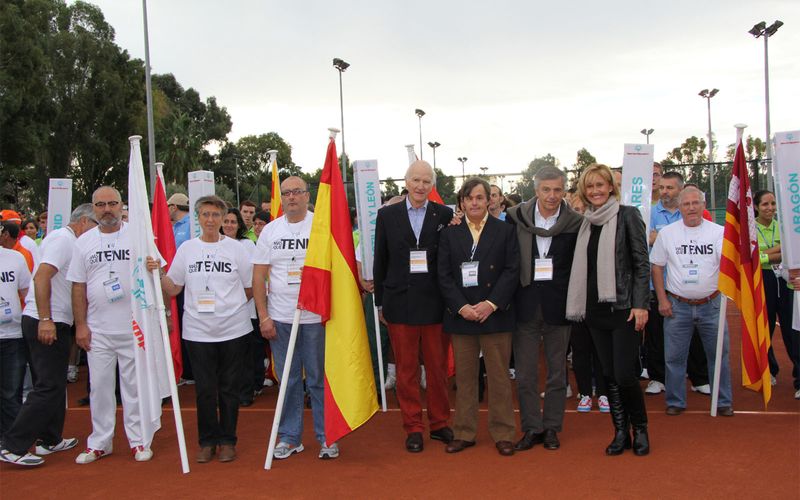 Some of the participants at the opening of the More Than Tennis