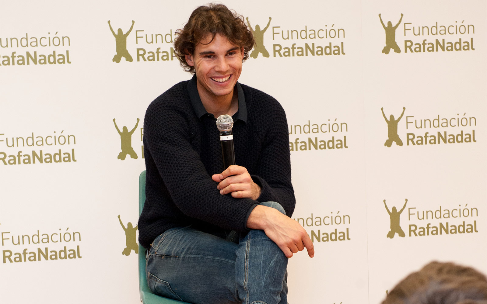 Rafa Nadal with children