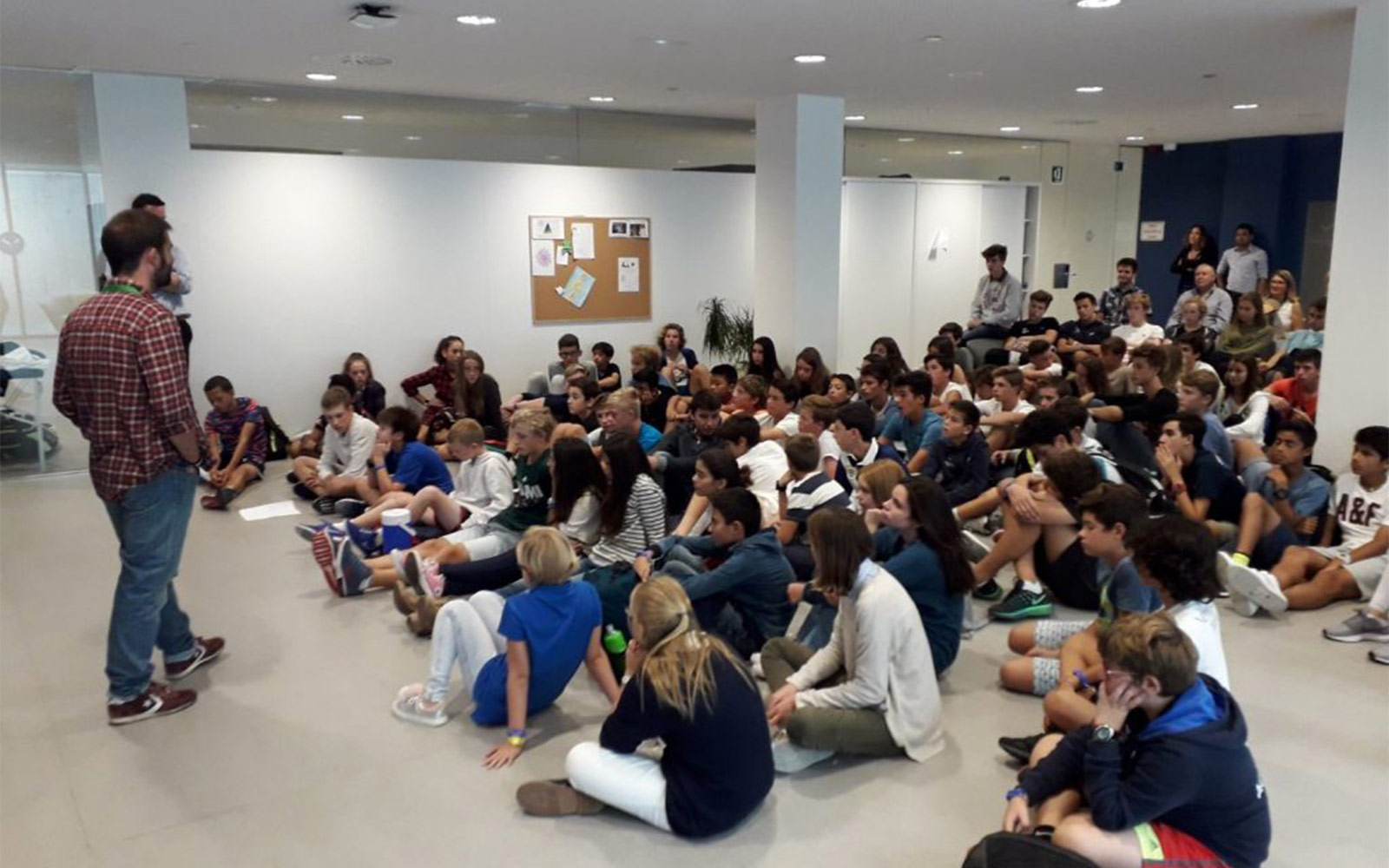Visited The Students Ofr N Academy By Movistar